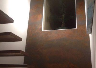 Escalera Acero Corten (Detalle pared)